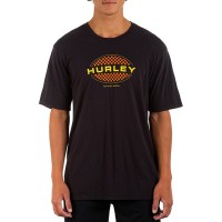 Men Short-Sleeve Oval Checkers Graphic t-Shirt Hurley Hot Weather Casual SVNFZWT