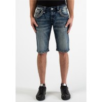 """Men's Wood Ash H200 23"""" Outseam Straight-Fit Shorts Rock Revival New Season IKYSPHY"""
