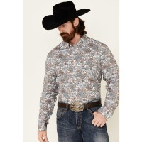 Cody James Core Men's Rein In Large Floral Print Long Sleeve Button-Down Western Shirt - Big Business Trends 2021 8PWG1889