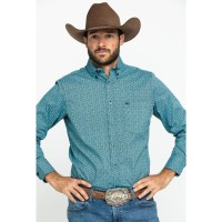 Wrangler 20X Men's Competition Blue Geo Print Long Sleeve Western Shirt Valentine on clearance 0M92X1427